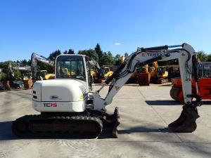 mini bagri terex tc 75